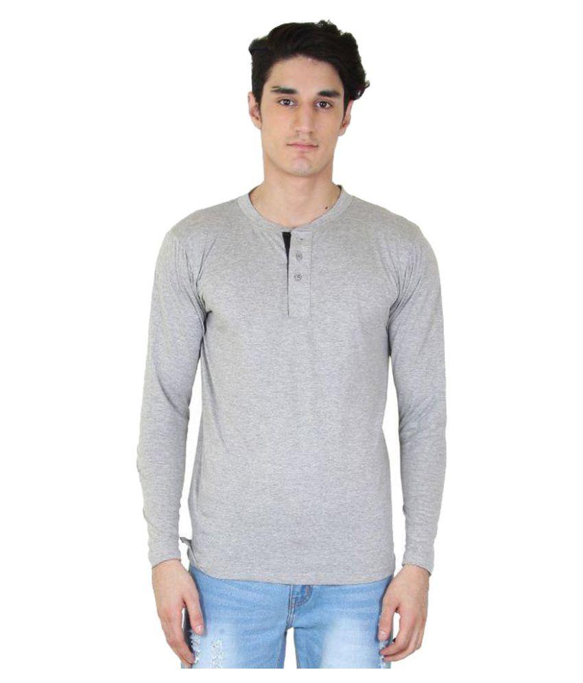 Fenoix Grey Henley T-Shirt