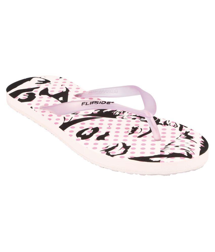 Flipside Womens Marilyn Pink Flipflops