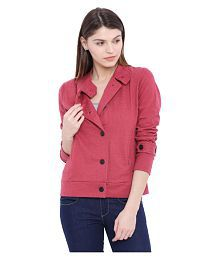 Campus Sutra Maroon Cotton Trench Coats