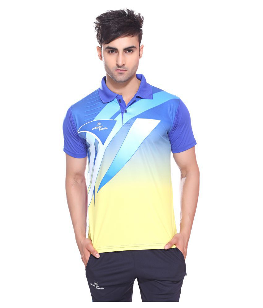 Sport Sun Multi Polyester Polo T-Shirt Single Pack