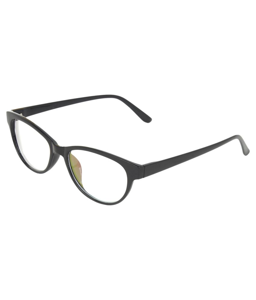 7f4ed34a189 Zyaden Black Cat Eye Spectacle Frame - Buy Zyaden Black Cat Eye Spectacle  Frame Online at Low Price - Snapdeal