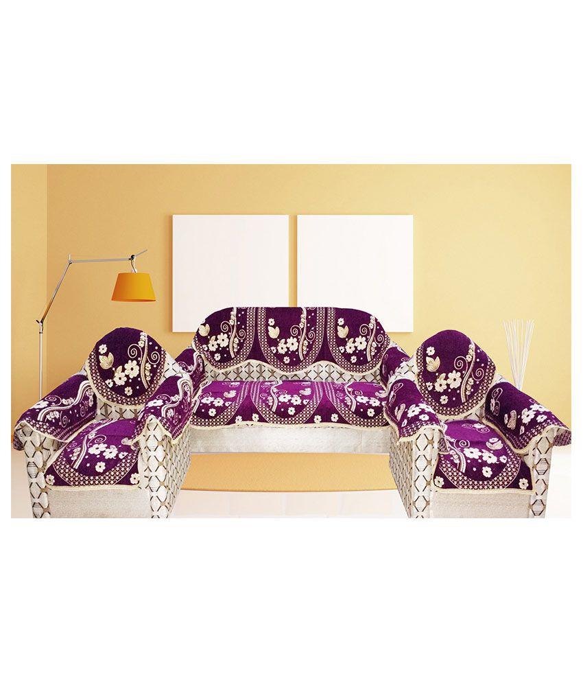 Strange Mangal 5 Seater Velvet Set Of 12 Sofa Cover Set Pabps2019 Chair Design Images Pabps2019Com