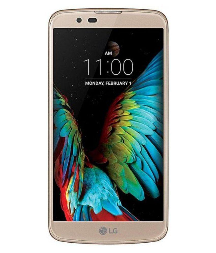LG K420DS ( 16GB , 1 GB ) Black Gold