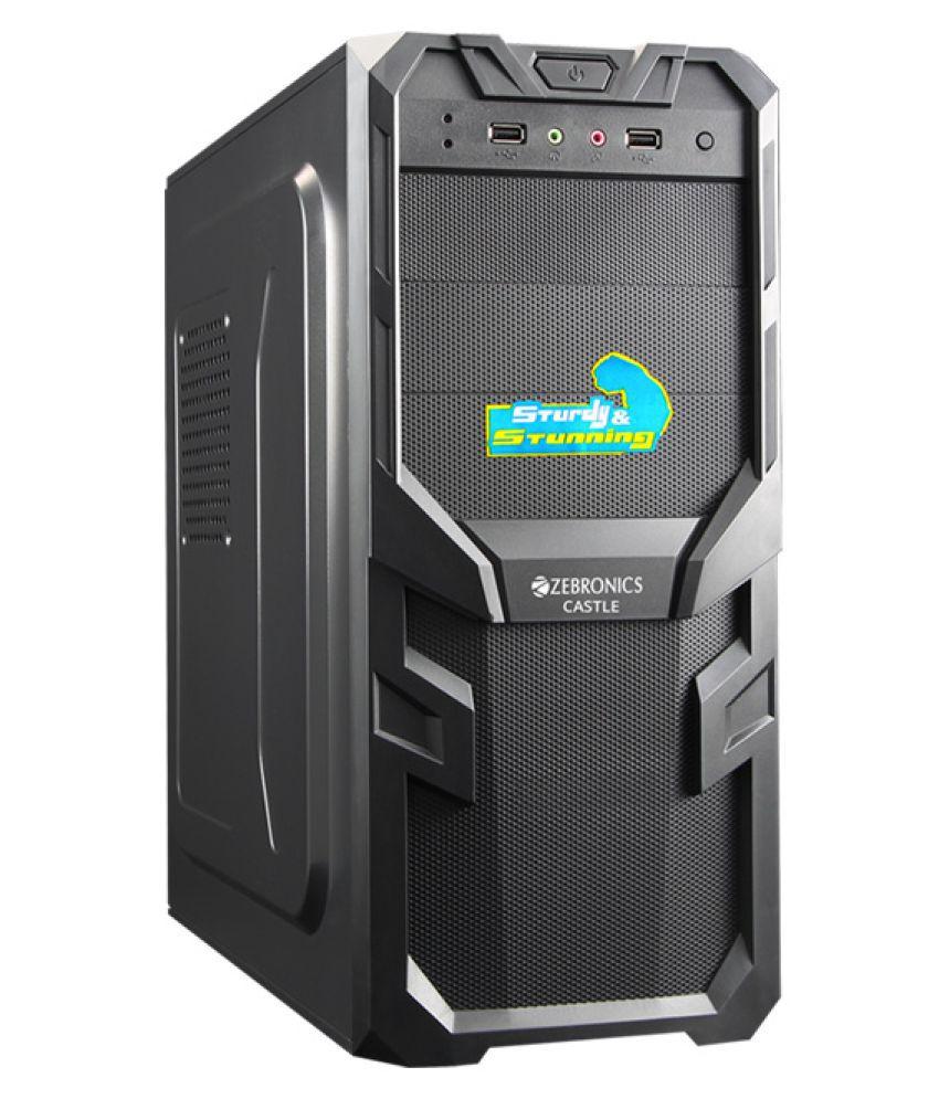 Zebronics Zebronics Castle Cabinet with Smps (Black) Black Desktop ...