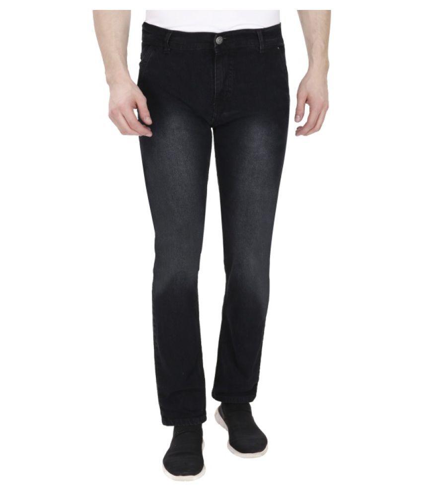 Franklineplus Black Slim Fit Denim Jeans
