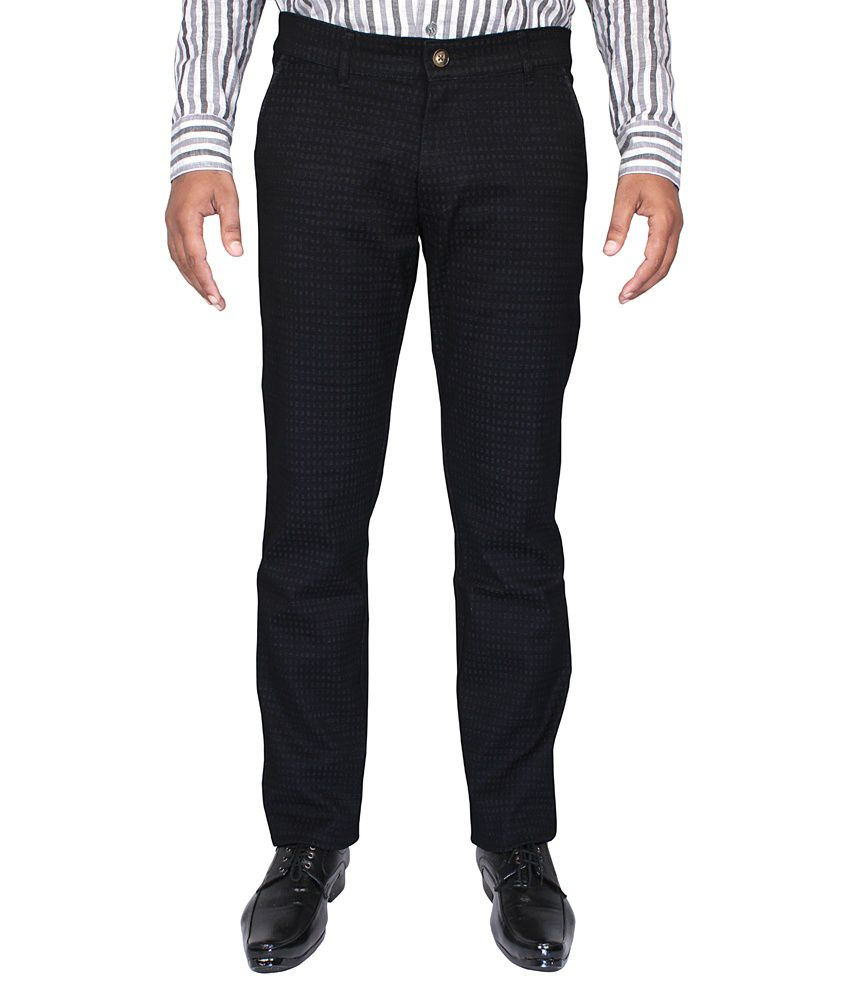 CAY Black Regular Flat Trouser