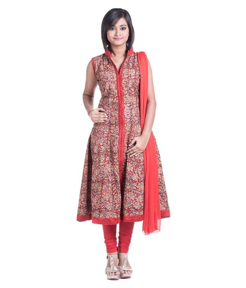 Cynthia's Fashion Multicoloured Cotton Anarkali