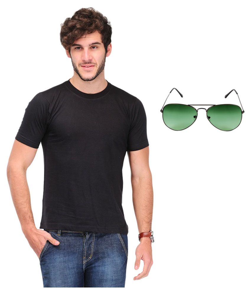 Calibro Black Round T-Shirt with Sunglass