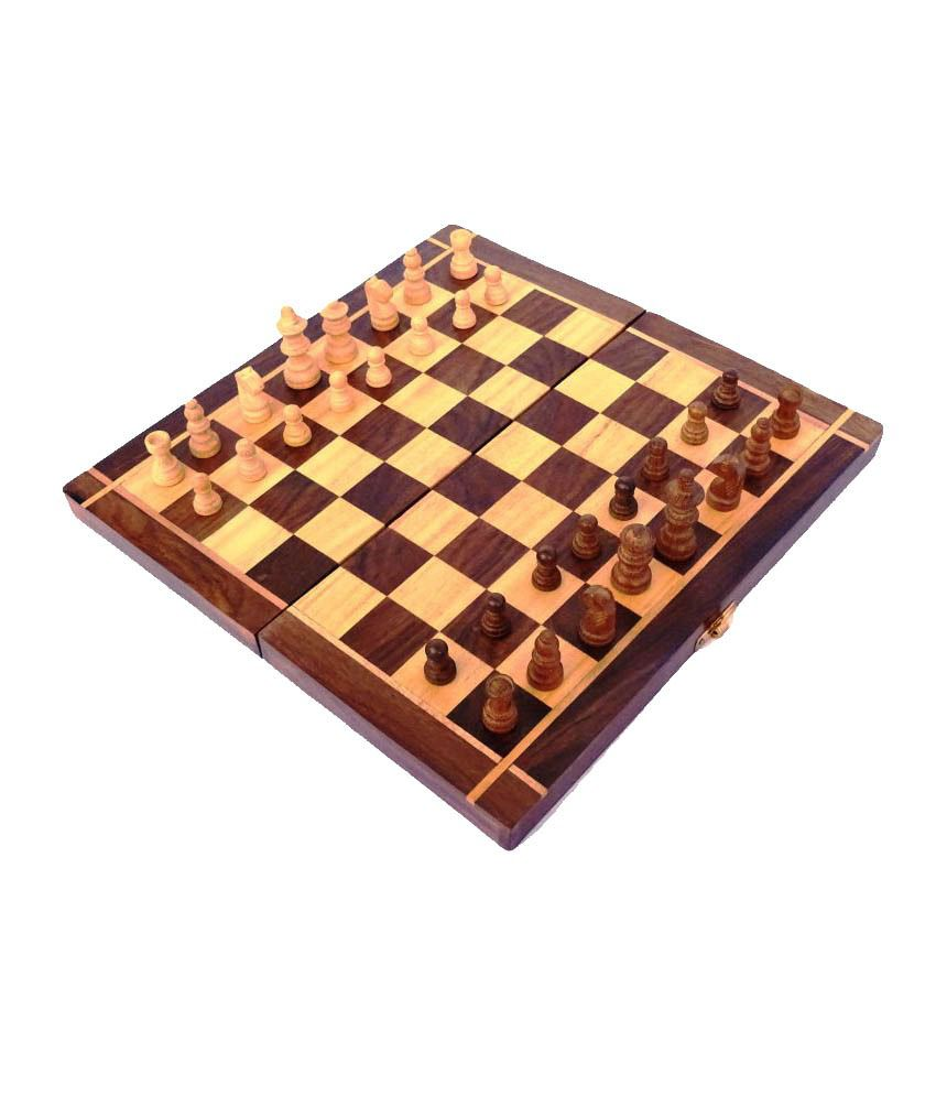 Woodpedlar Multicolor Wooden Chess Board