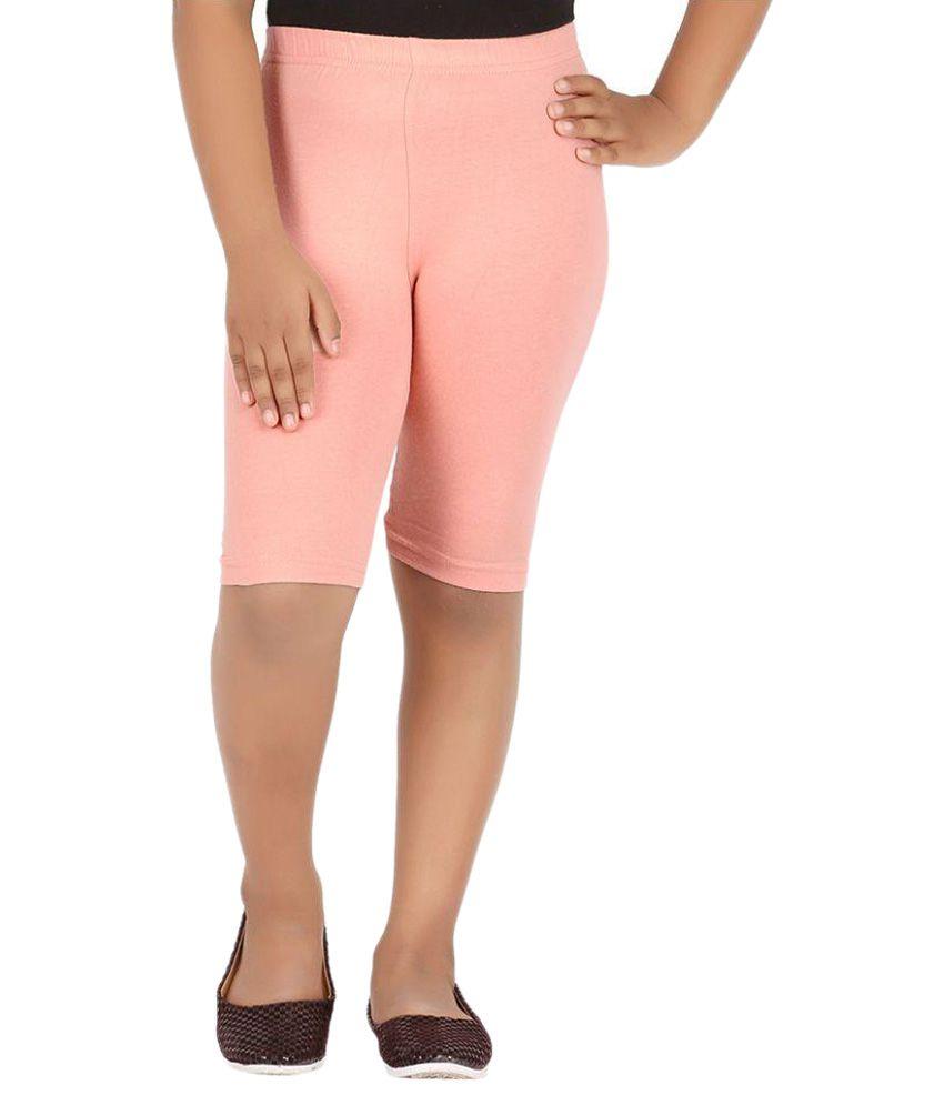 Knit ABC Orange Cotton Cycling Shorts