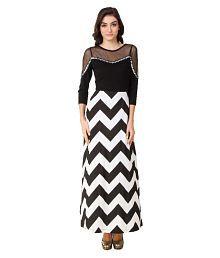 Texco Black Cotton Dresses