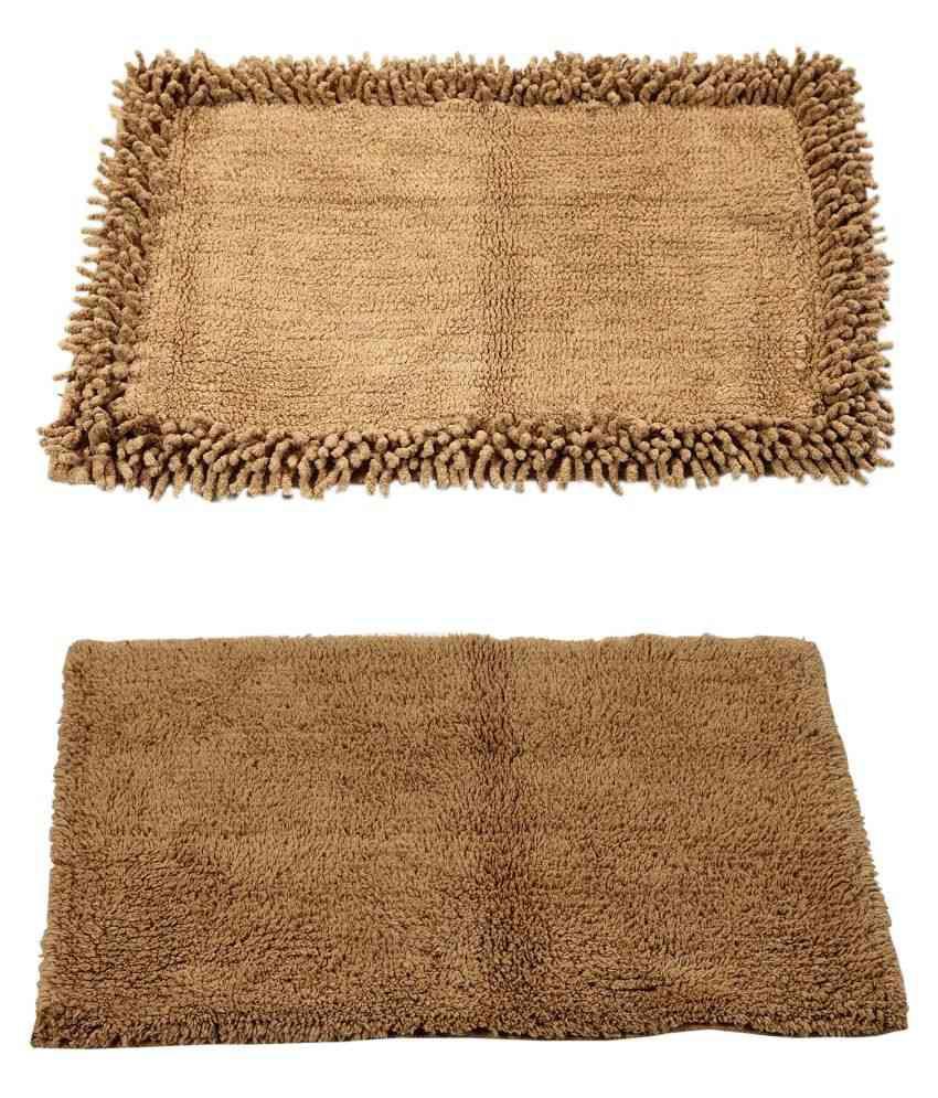 Homefurry Set of 2 40x60 Bath Mat Beige