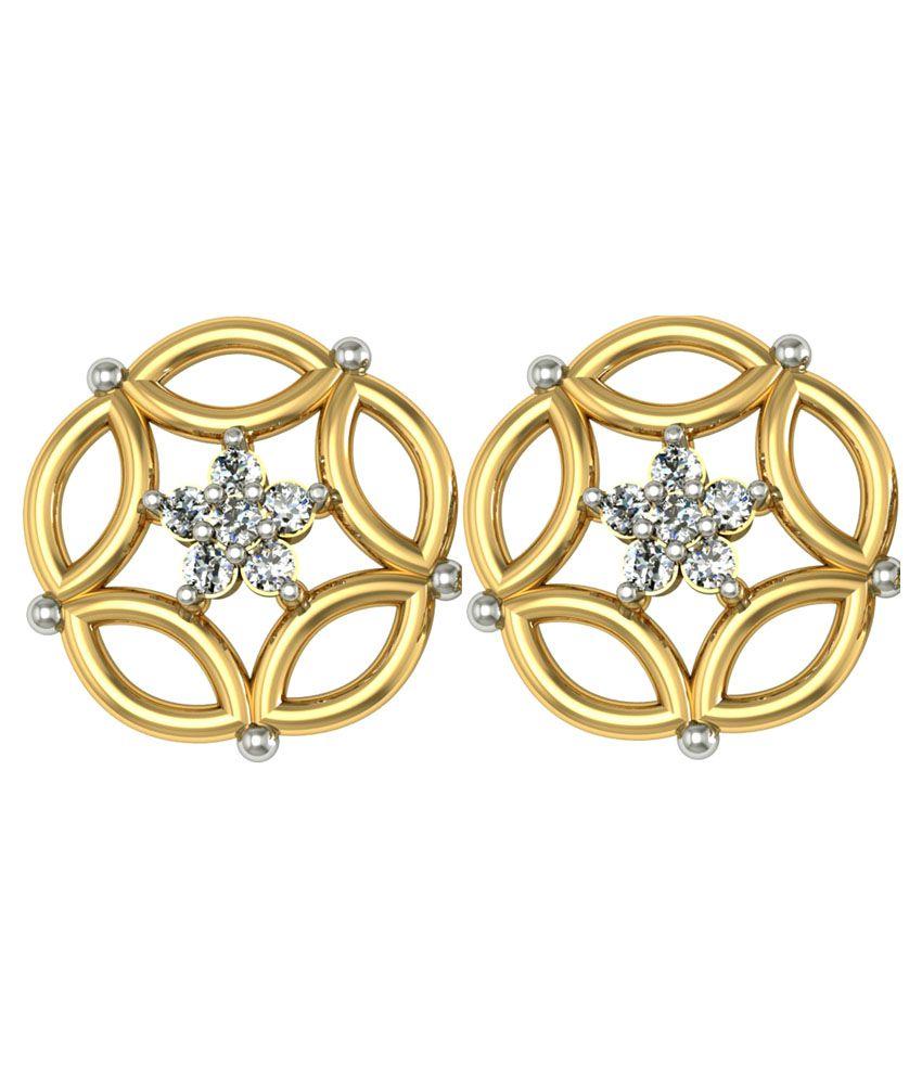 Suvam Jewels 18k Gold Swarovski Studs
