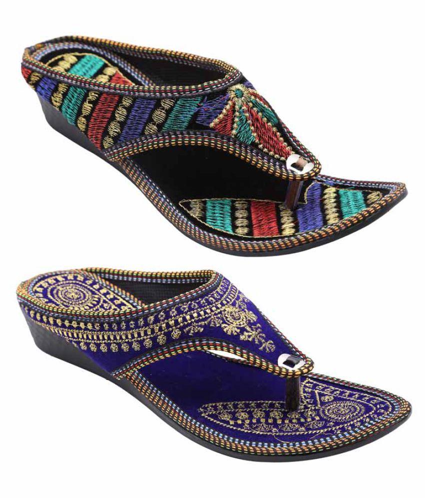 Ridhi Sidhi Multi Color Wedges Heels