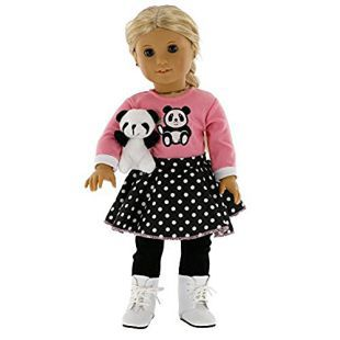 "Dalmatian Top Shirt /& Polka Dot Leggings made for 18/"" American Girl Doll Clothes"