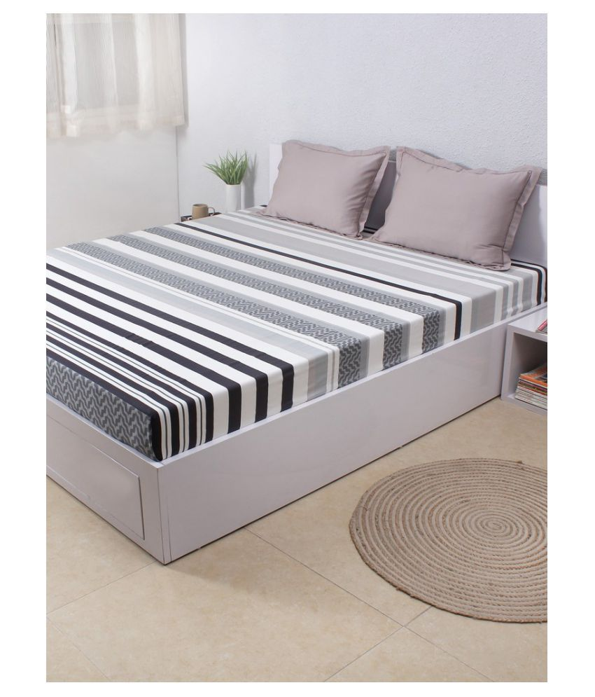 House This Double Cotton Stripes Bed Sheet