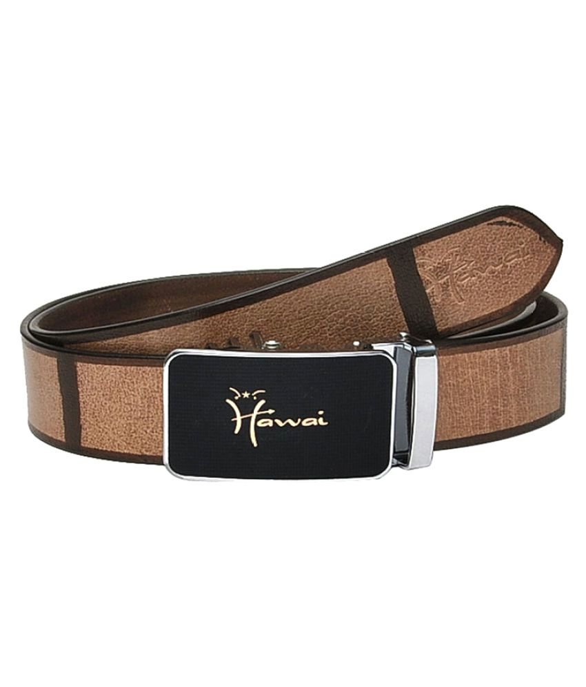 Hawai Brown Leather Casual Belts