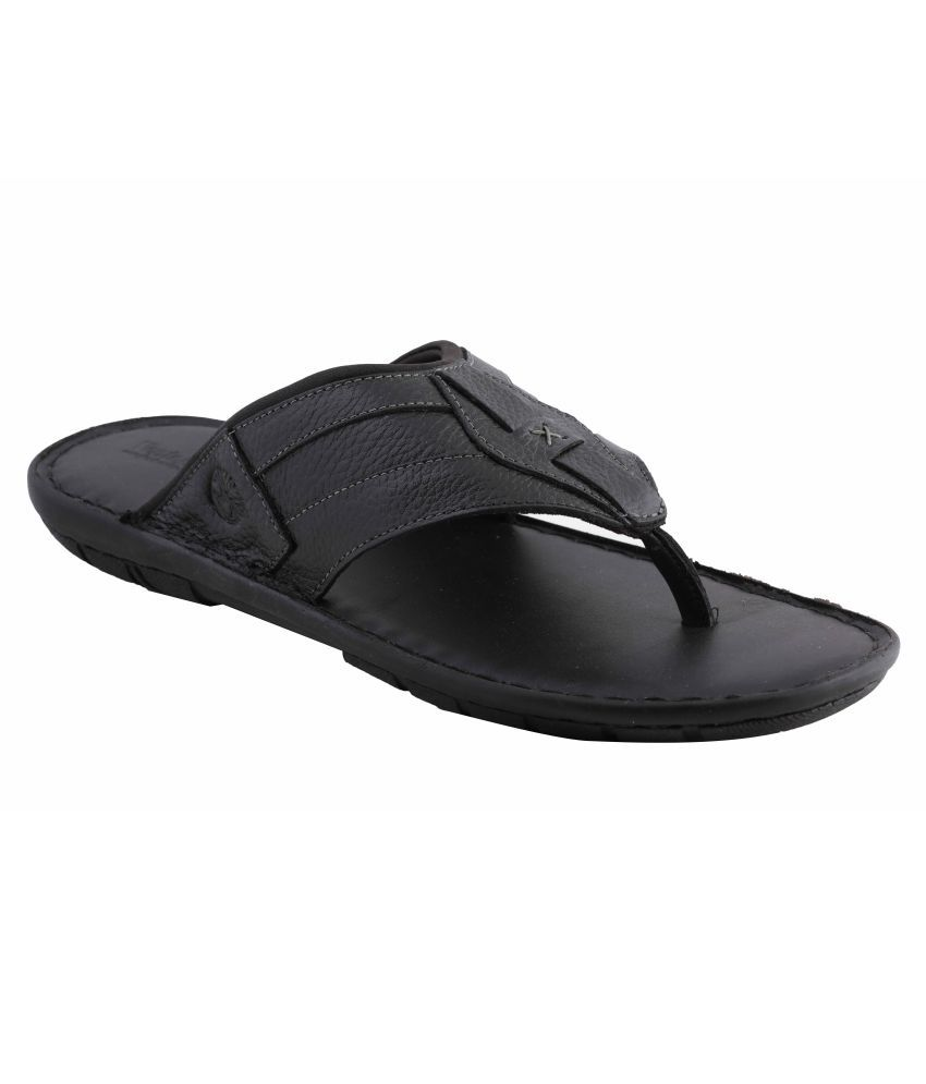 2a0f098f3 Amster Black Pure Leather Mens Slippers Price in India- Buy Amster Black  Pure Leather Mens Slippers Online at Snapdeal