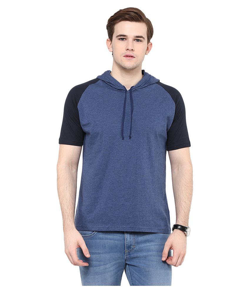 Colors Couture Blue Hooded T-Shirt