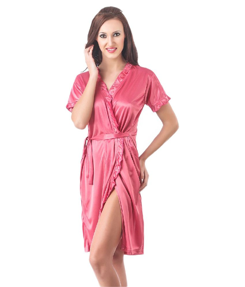 Wedding Satin Robes buy boosah pink satin robes online at best prices in india snapdeal robes