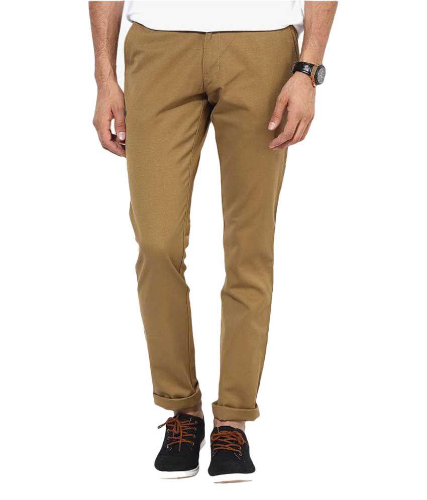 Rigo Beige Slim Flat Trouser