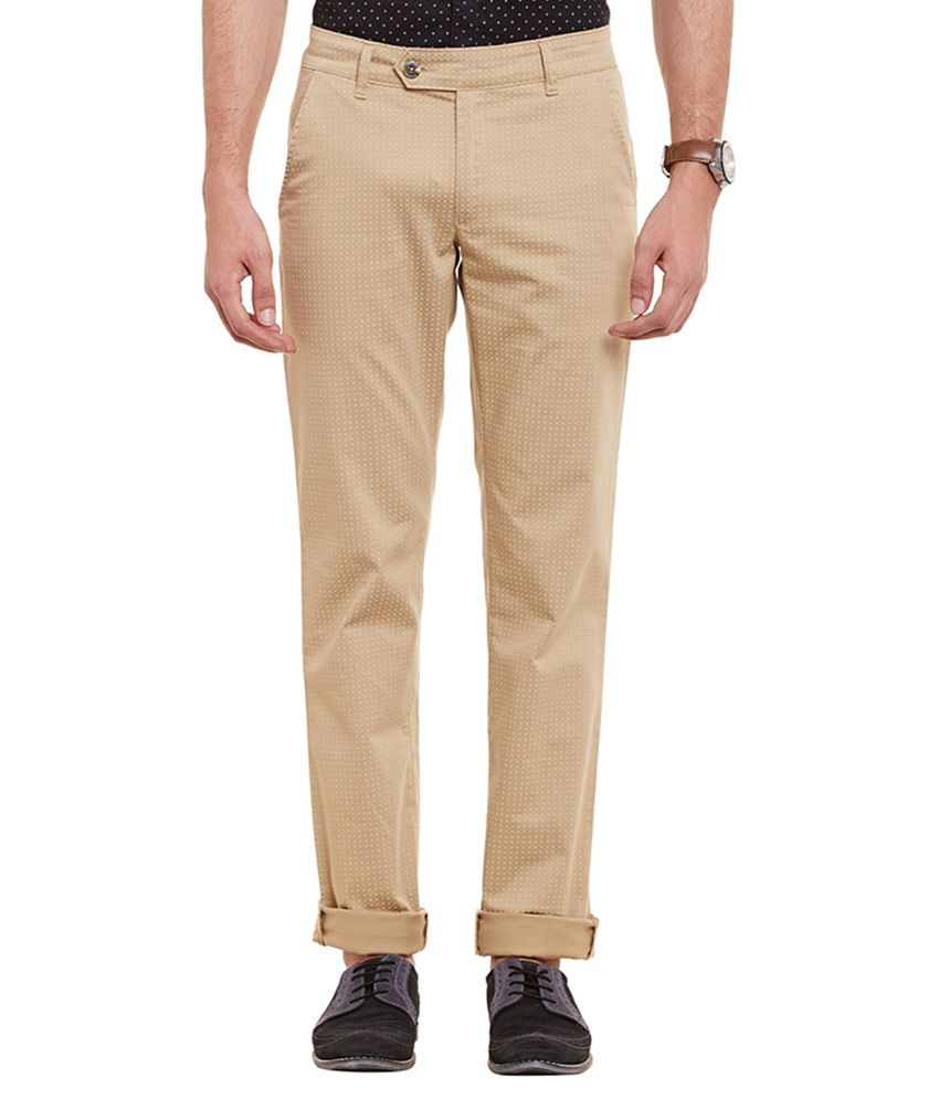 Canary London Khaki Regular Flat Trouser
