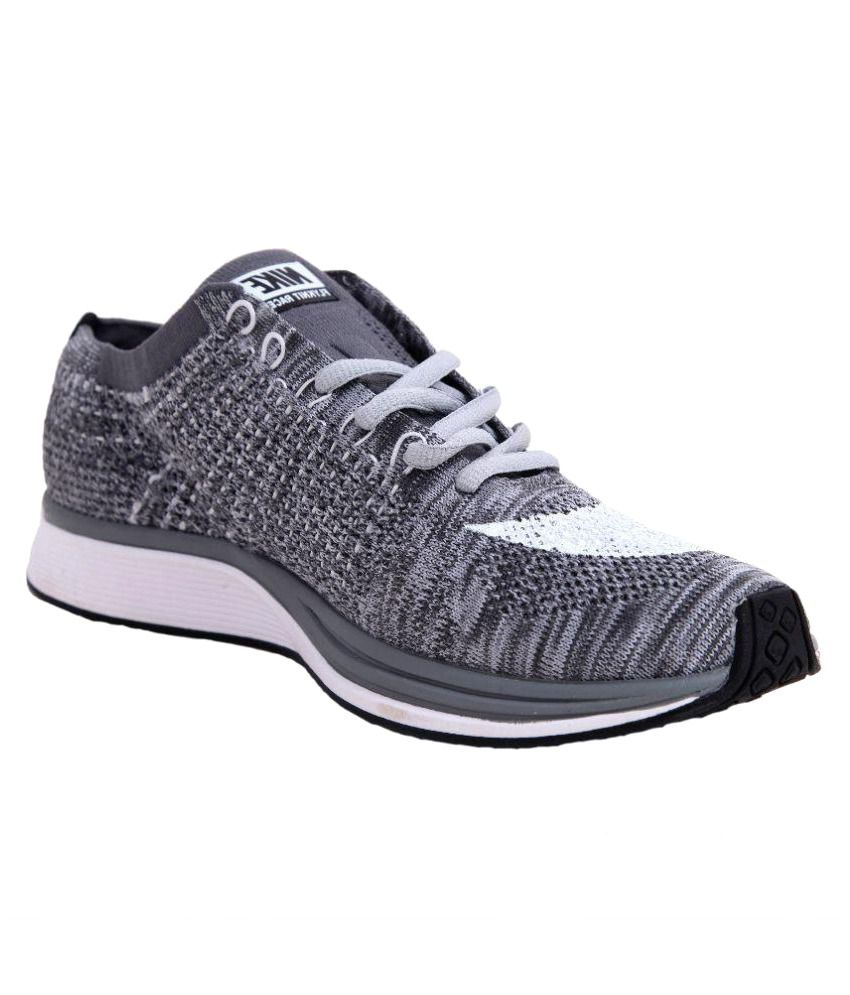 73f6d960a247 Nike NIKE FLYKNIT RACER Gray Running Shoes - Buy Nike NIKE FLYKNIT RACER  Gray Running Shoes Online at Best Prices in India on Snapdeal
