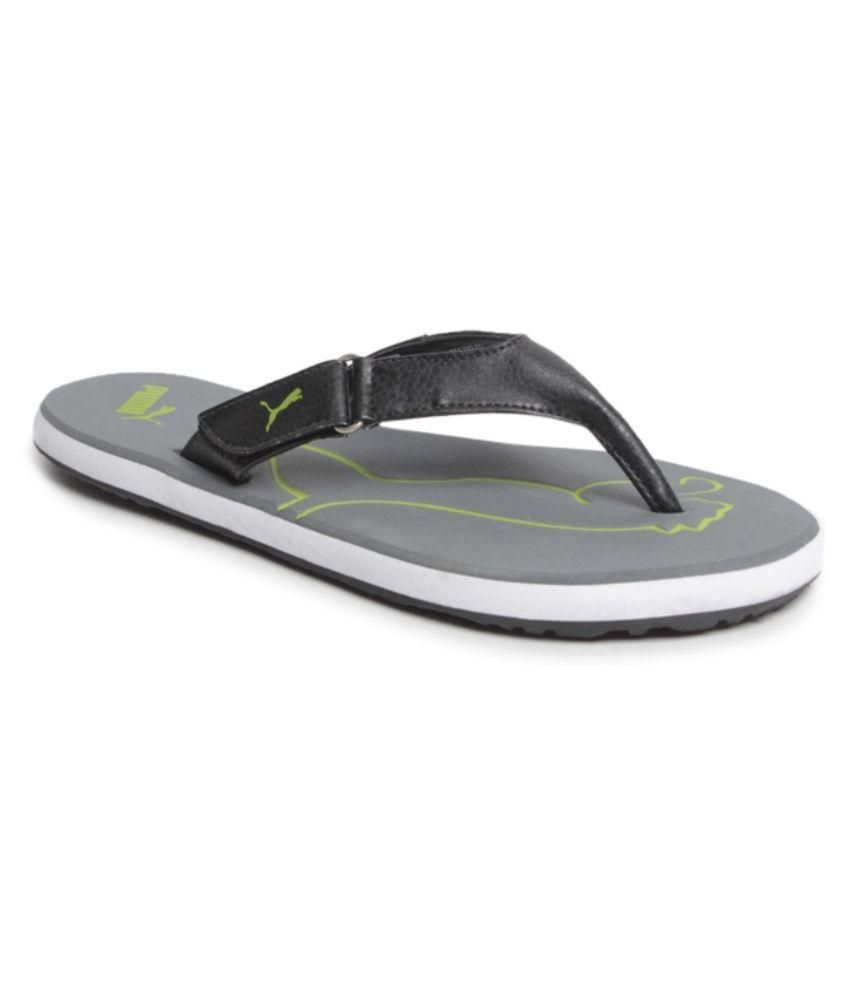 7d6f22f28b0e Puma Black Thong Flip Flop Price in India- Buy Puma Black Thong Flip Flop  Online at Snapdeal
