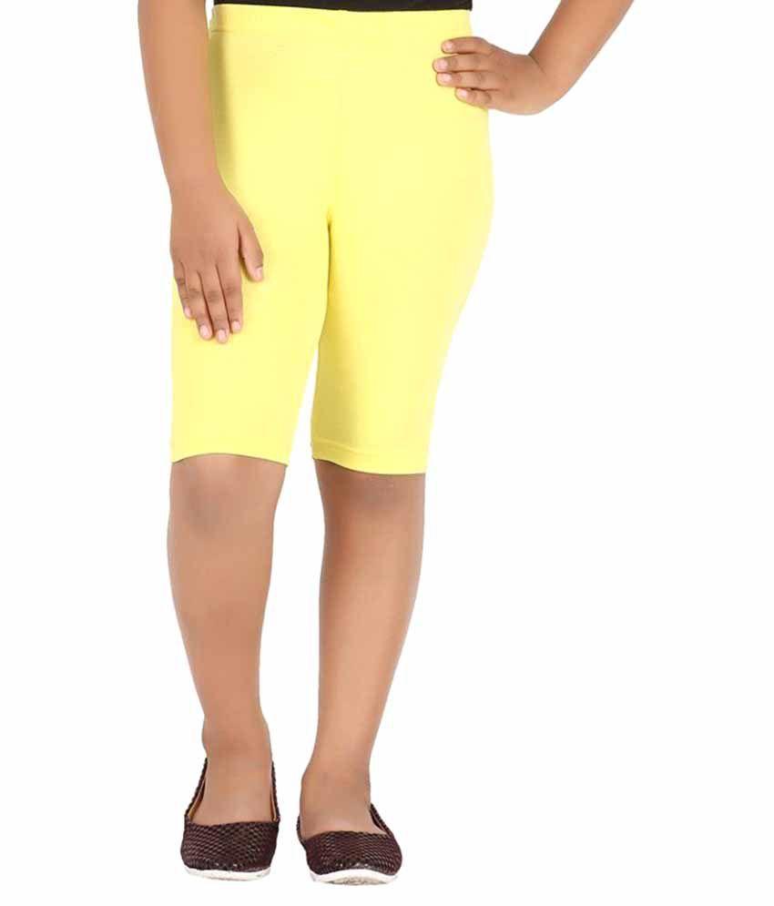 KNIT ABC Yellow Shorts