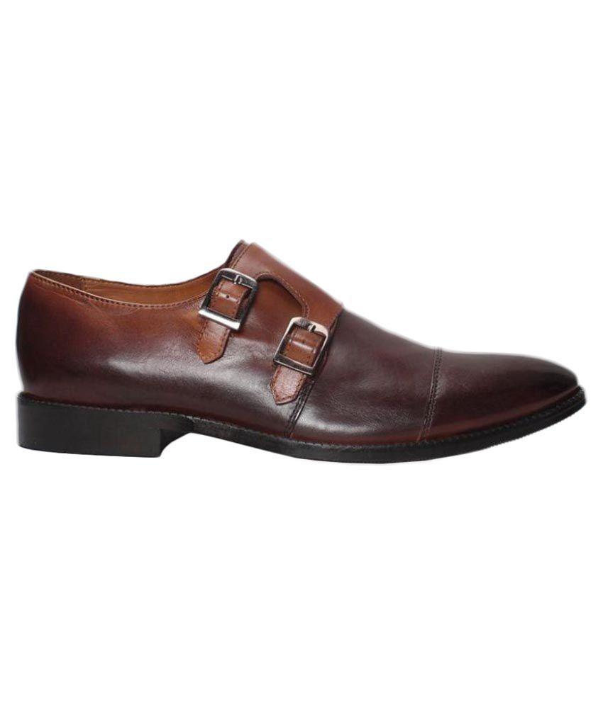 0d678c89f6de Brune Brown Monk Strap Genuine Leather Formal Shoes Price in India- Buy  Brune Brown Monk Strap Genuine Leather Formal Shoes Online at Snapdeal