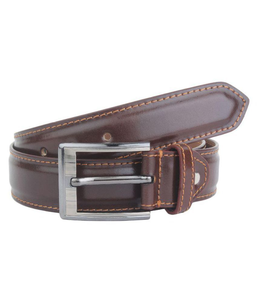 Dscotlee Brown Leather Formal Belts