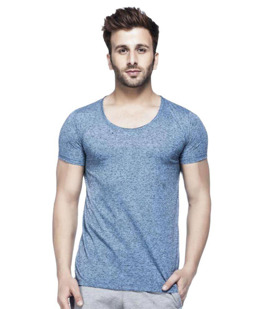 Tinted Blue Round T-Shirt