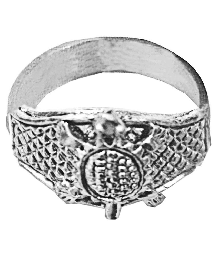 Mens Jewell Silver Alloy Ring