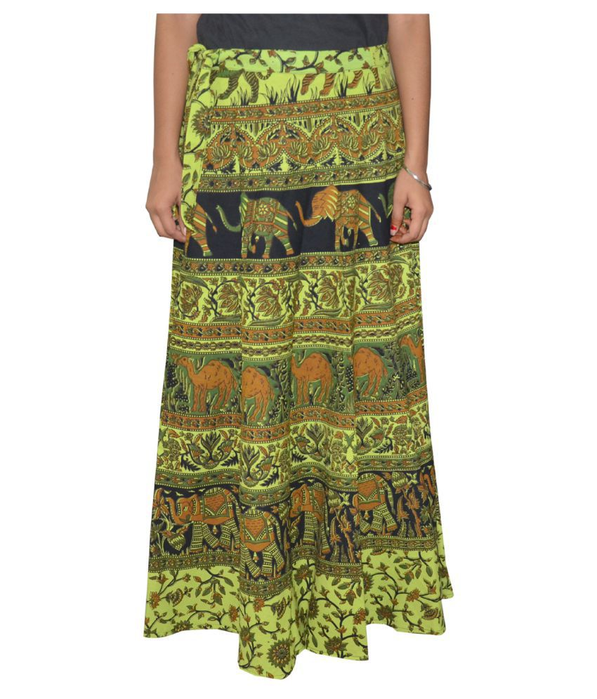 356713fc3c Buy Sunshine Rajasthan Green Cotton Skirts Online at Best Prices in India -  Snapdeal