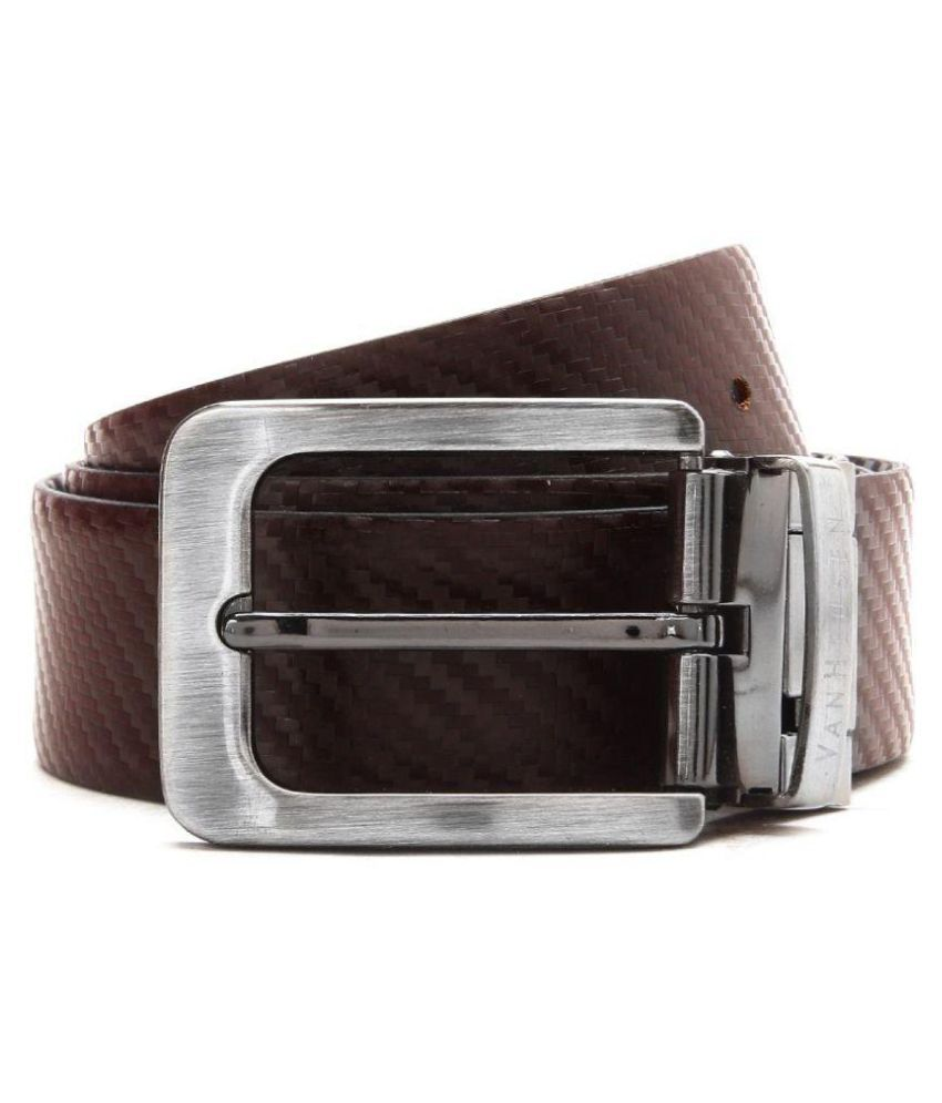Van Heusen Brown Leather Formal Belts