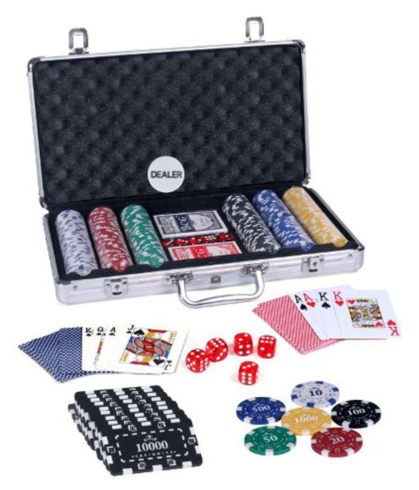 Casinoite 300 Pcs Diced Poker Chip & Brick Set With Denomination Toy