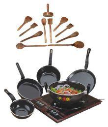 Milton Nova Enamle Cookware Set 16 Cookware Sets