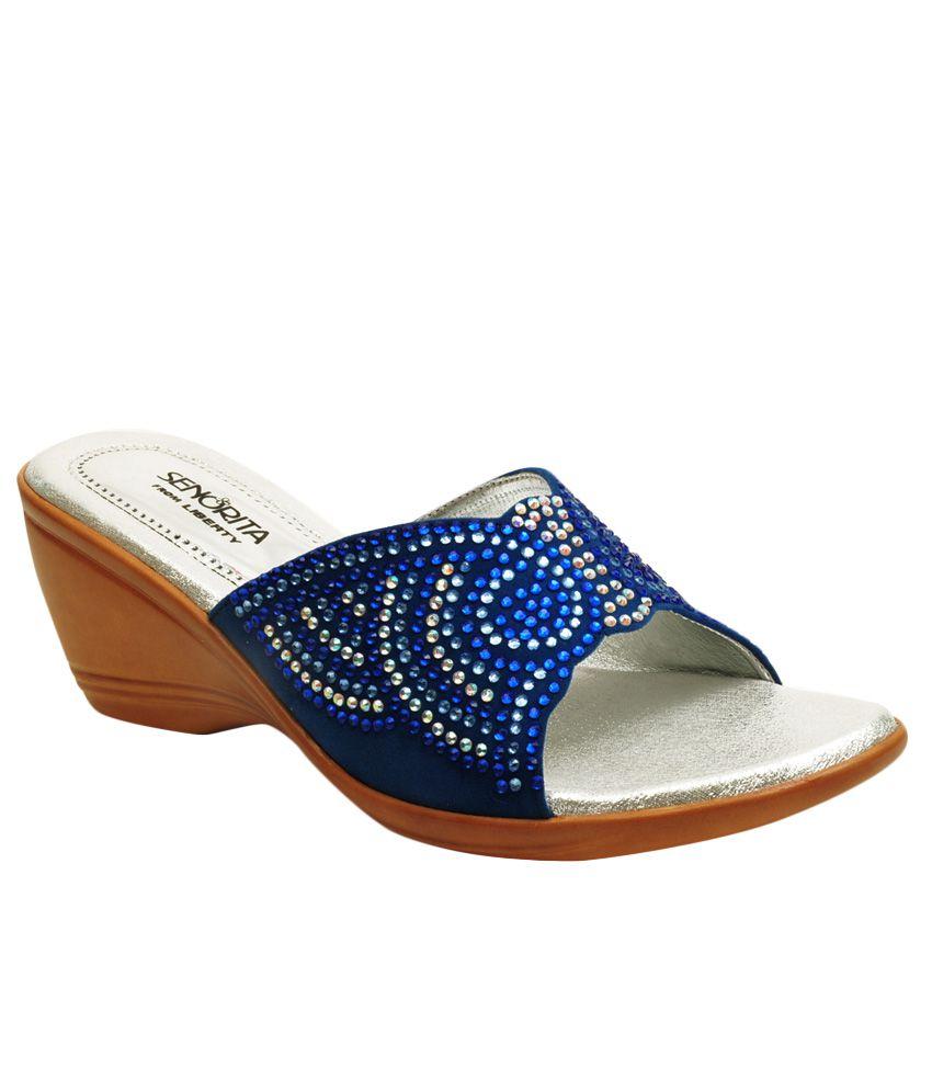 Senorita By Liberty Blue Slippers