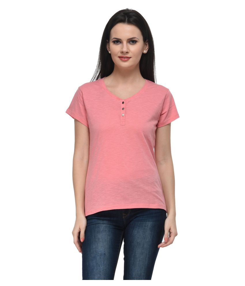 Frenchtrendz Coral Cotton Regular Tops - Buy Frenchtrendz ...