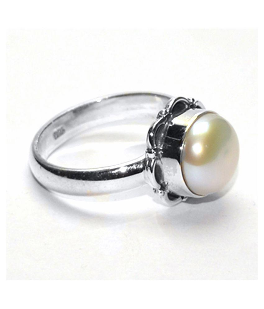 Manirathnum 92.5 Silver Pearl Ring