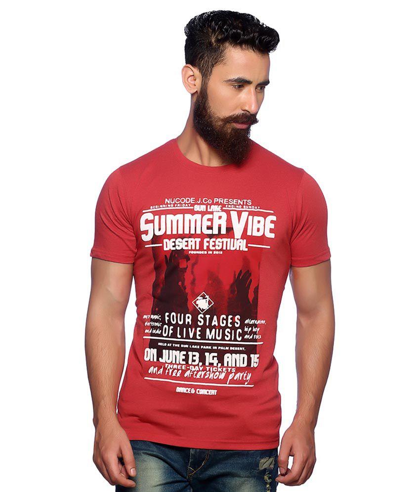 Nucode Red Round T-Shirt