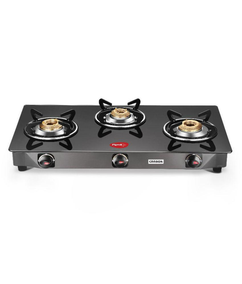 Pigeon Carbon 3 Burner Glass Gas Cooktop