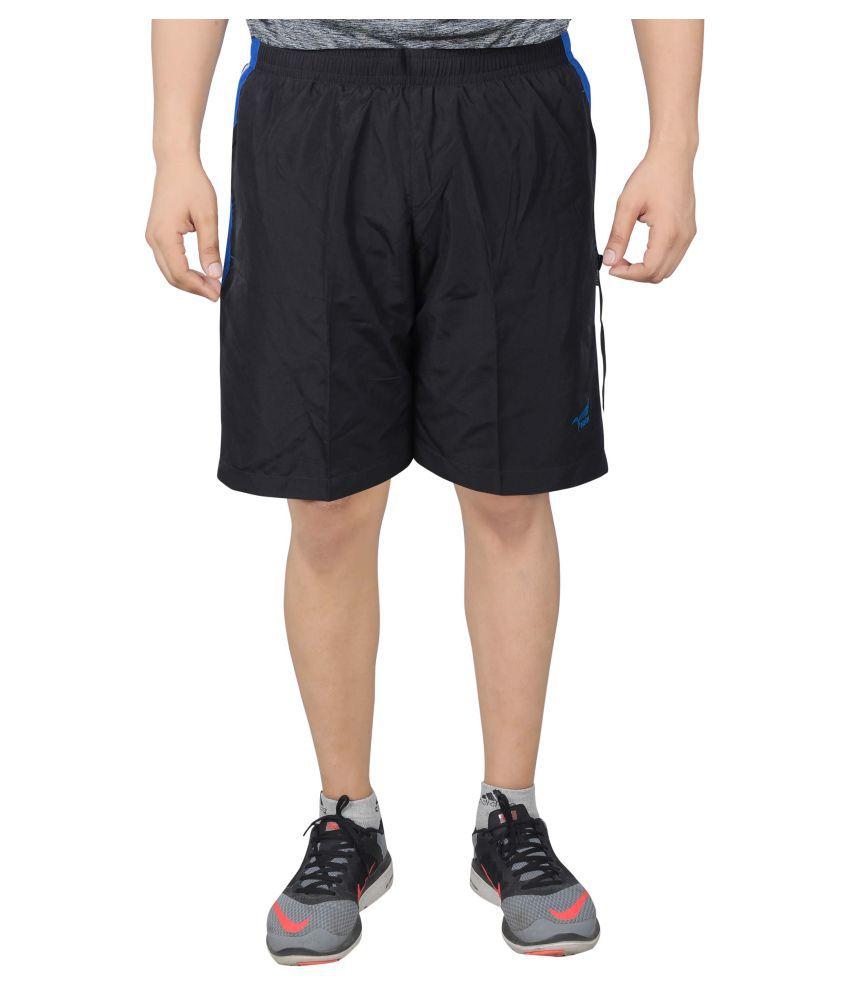 NNN Black Polyester Shorts