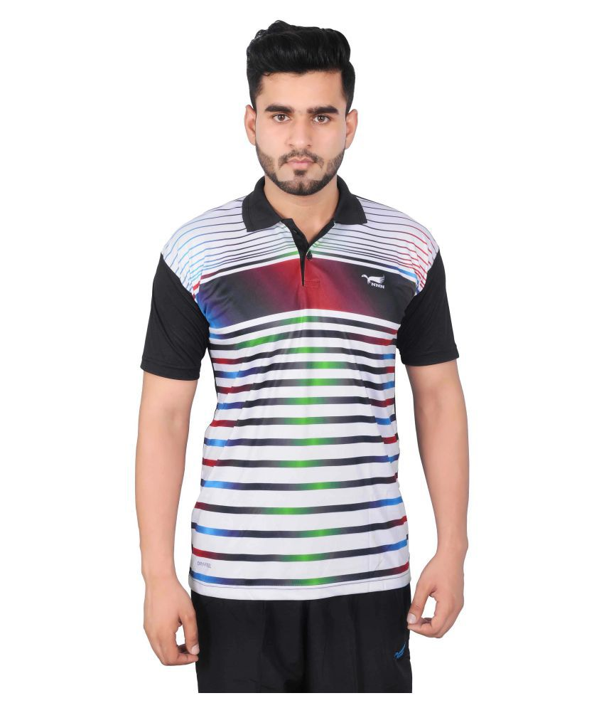 NNN Multicolour Polyester Polo T-shirt