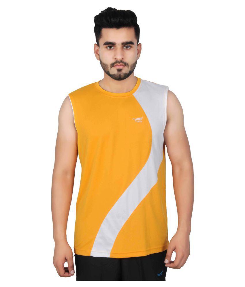NNN Yellow Polyester T-Shirt