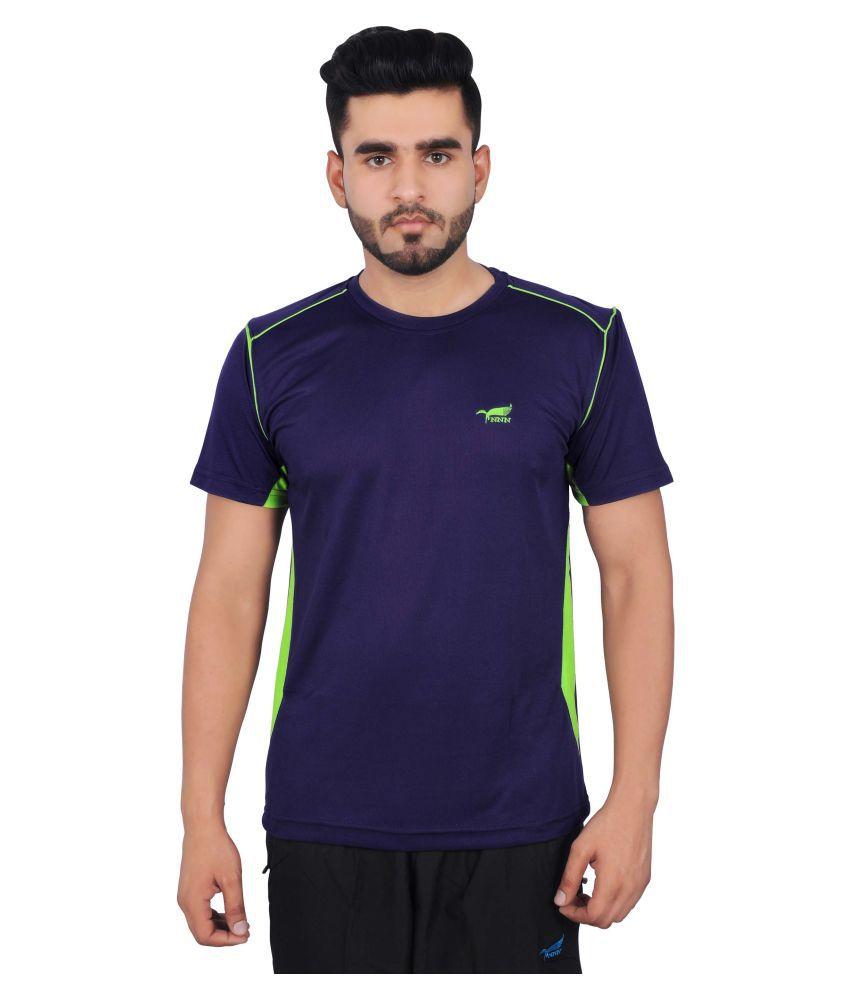NNN Navy Polyester T-Shirt