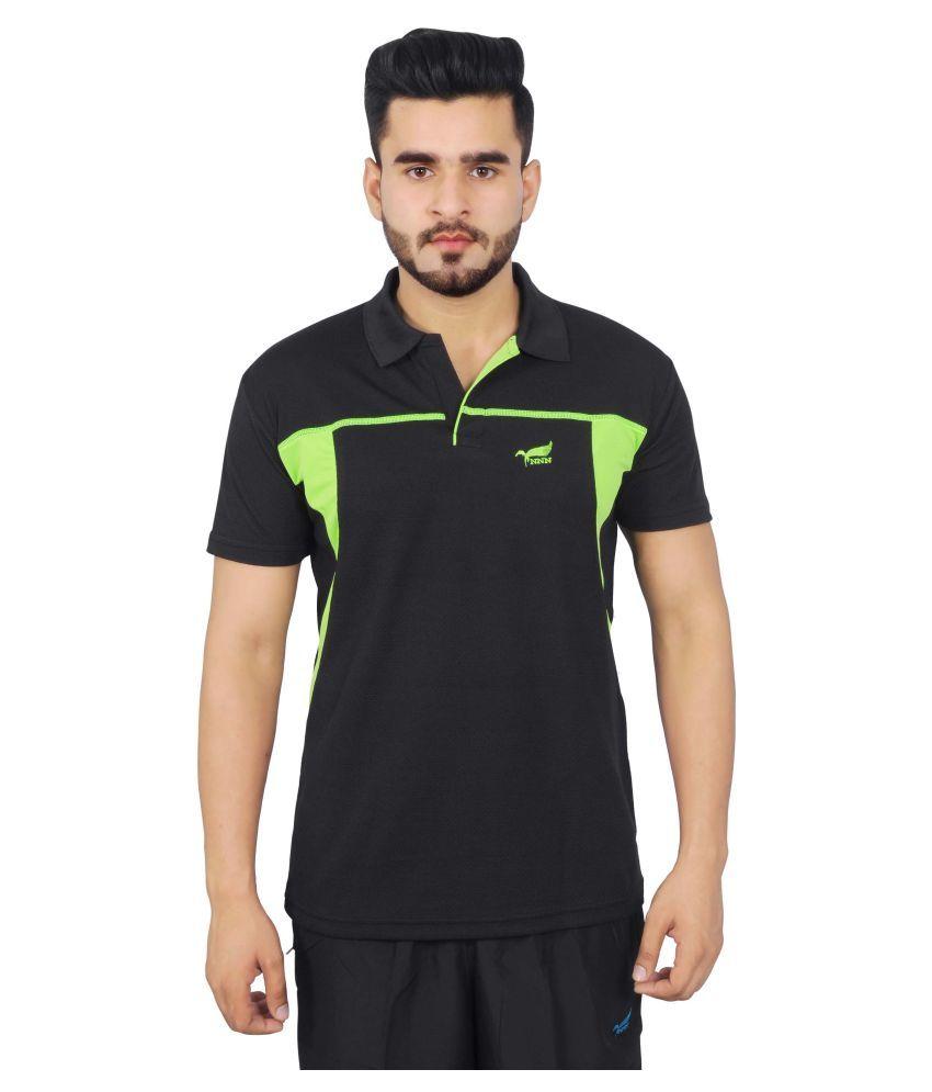 NNN Black Polyester T-Shirt