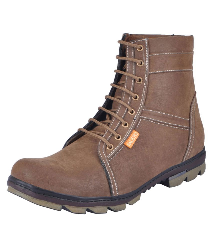 Fausto Brown Hiking & Trekking Boot