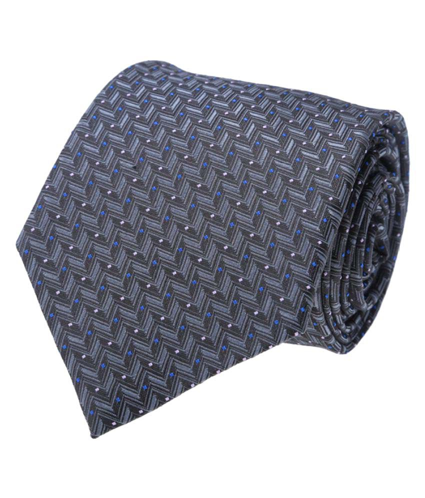 Vermello Gray Formal Necktie