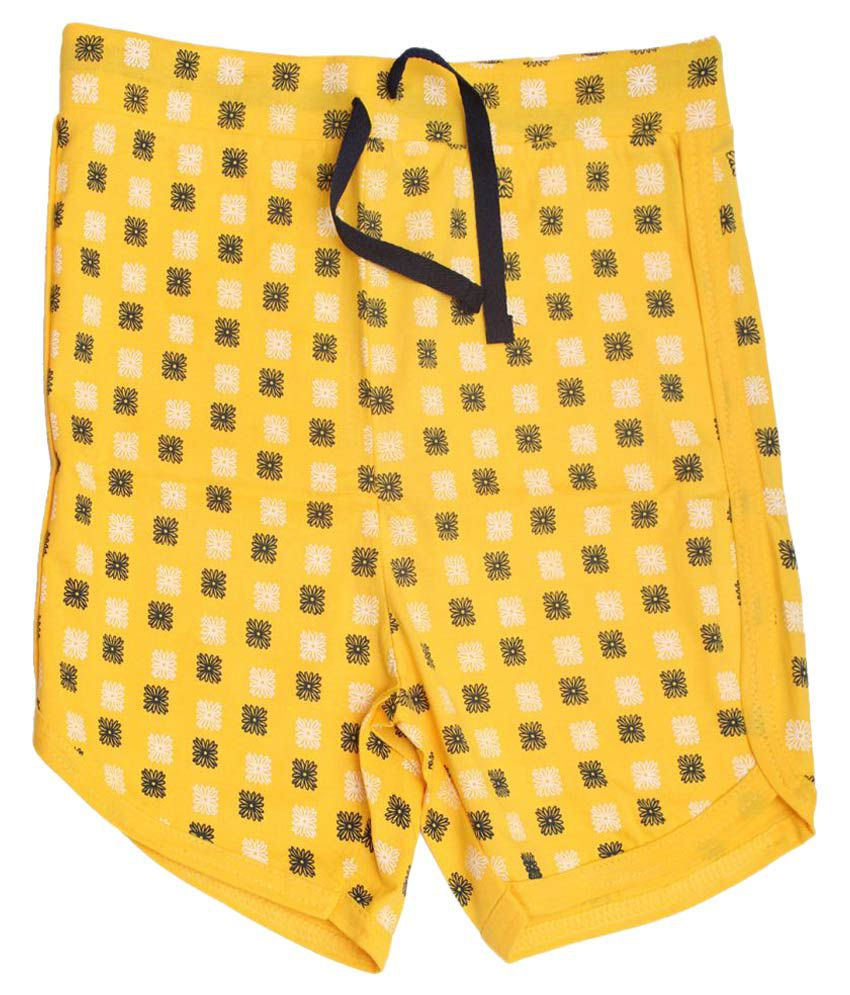 Babeezworld Yellow Bermudas